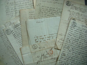 14 ANTIQUE MANUSCRIPTS 19th.C FRANCO-BRITISH WEDDING British ANGLICAN & French