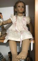 """Annette Himstedt 1990 Barefoot Children """"Fiene"""" Vinyl Doll. 26"""""""