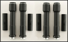 BLACK PUSHROD TUBE KIT FOR HARLEY TWIN CAM WORKS WITH QUICK CHANGE PUSHRODS