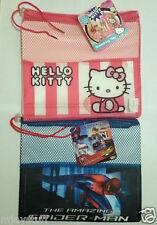 Kidz Decor Hello Kitty Amazing Spiderman Drawstring Bag School Swimming Age 3+