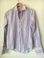 Shirt Pink Candy Stripe Size 10 M&S Cotton <T13912