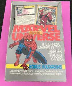 Marvel Universe Series II Wax Box 1991 Impel Brand New Still Sealed