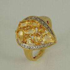 Ovale Echtschmuck-Ringe mit Citrin-Hauptstein für Damen