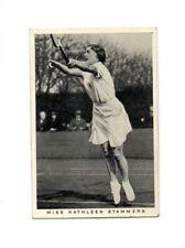 Wills - 1937 British Sporting Personalities - Tennis - Kathleen Stammers # 41