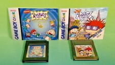 Rugrats: Time Travelers & Paris + Manuals - Nintendo Game Boy Color Gb Tested