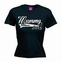 Mummy Since T-SHIRT Personalised Mum Born Baby Mothers Day birthday fashion gift