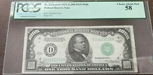 $1000 Federal Bill! PCGS-Choice, About NEW! No Flaws! NICE BILL FOR A LOW PRICE!