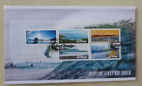 2017 NEW ZEALAND SURF BREAKS 5 STAMPS MINI SHEET FDC FIRST DAY COVER