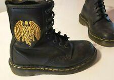Doc Dr Martens Black GARGOYLE Goth Biker Boots UK 3 - Vintage 90's   VERY RARE