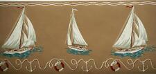 Ralph Lauren Nautical Wallpaper Border Boat Ocean Ship Ring Life Marina Anchor