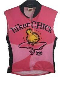 World Jerseys Biker Chick Sleeveless Pink Jersey LG
