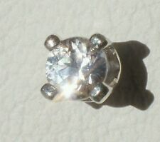 3mm White Parti-color MONTANA SAPPHIRE Gemstone .925 Sterling Silver Tie Tack