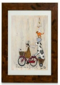 Pack In A Stack  by Sam Toft Framed Print by Sam Toft