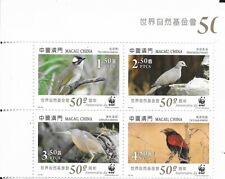 MACAU , Birds block of 4  MINT NH