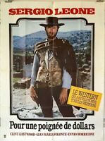 A FISTFUL OF DOLLARS (RR1979) - CLINT EASTWOOD / SERGIO LEONE - French 47x63