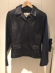 Nine West 100% Leather Jacket Size S