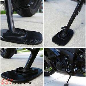 Motorcycle Bike Kickstand Side Kick Stand Pad Plate Base For Yamaha Honda Harley
