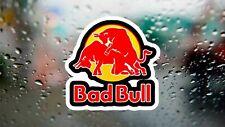 Mala Bull Red Bull Divertido Calcomanía De Carreras De Rally Drift Portátil Coche Ventana Pegatina De Vinilo