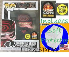 LACC 2019 Exclusive Marvel GitD GLOW Corrupted Venom Funko Pop + Soft Protector
