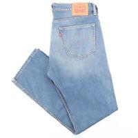 LEVI'S 505 Blue Denim Regular Straight Jeans Mens W34 L32