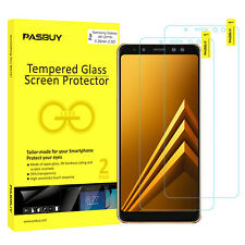 PASBUY 2 Pack Tempered Glass Screen Protector for Samsung Galaxy A8 (2018)