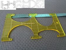 Quilting Template Ruler 5mm Ovals / Leaves for Long Arm, High Shank Machines