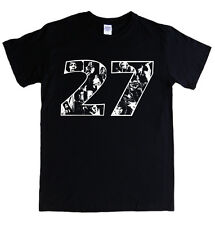 27 CLUB t-shirt - S - 5XL jimi hendrix jim morrison cobain joplin nirvana doors