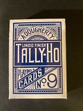 2 Tally-Ho No 9 A Dougherty Antique Playing Cards Original Open Wrapper