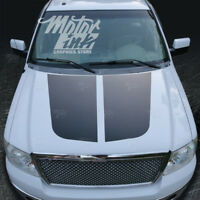 Ford F150 2009-2014 Hood Blackout Split Decal Racing Rally Stripes  Graphics