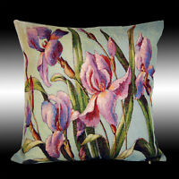 MOTH ORCHID FLOWERS TAPESTRY BOTH SIDES DECO THROW PILLOW CASE CUSHION COVER 17""