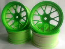 Rc Car 1/10 Drift Y Spoke Rims Wheels 6mm Offset fits Tamiya HPI Green 12mm hex