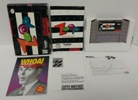 Zoop - SNES Super Nintendo AUTHENTIC Tested Working Game Complete w/ Box