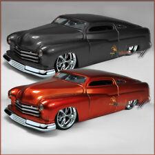 TWO JADA 1951 MERCURY HARD TOP COLOR BLACK, RUST UN-BOXED DIECAST