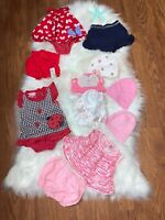 Lot Of 11 Pieces Baby Girl Summer Size 0-3 Months One Pieces Hats Bonnet Shorts