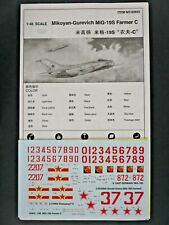 Trumpeter 1/48th Scale Mikoyan MiG-19S C Decals from Kit No. 02803