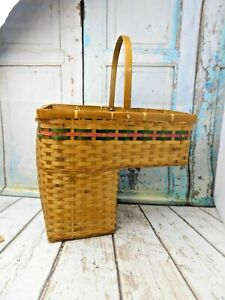 Vintage Staircase Basket Step Woven Style Home Decor