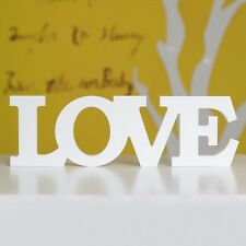 White Plastic Free Standing LOVE Letters Sign Decoration Wedding Home Decor New
