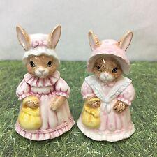 Bunny Rabbit Figurine Brown Standing Anthropomorphic Hand Painted 7538 Vintage