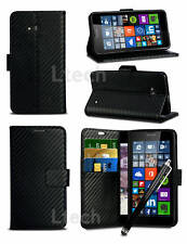 Sony Xperia XZ / F8332 - Carbon Fibre Effect Wallet Case Cover & Pen
