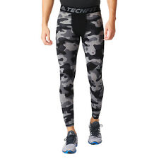 NWT Men's adidas Training Techfit Base Tights Gray Camo S Style (AJ6104)