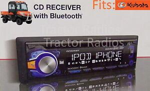 Plug & Play Kubota Tractor Bluetooth Radio CD AM FM RTV LX B2650 RTX 1100 KX