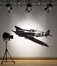 RAF Spitfire WW2 War Aircraft Plane Vinyl Home Wall Decal Sticker VE10
