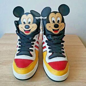 Very Rare Adidas Originals Jeremy Scott Mickey Mouse Disney U43037 Size US-7