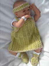 Honeydropdesigns * DUNGAREES/DRESS DUO * PAPER KNITTING PATTERN * Reborn/Baby