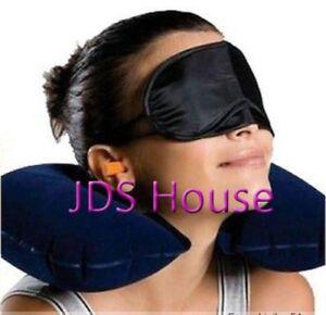 Leisure Travel U Pillow Eye Patch Earplug Head Rest Air Cushion