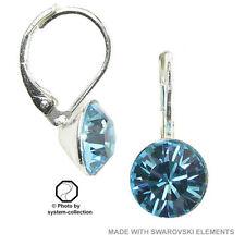 Versilberter Mode-Ohrschmuck Aquamarin-für besondere Anlässe