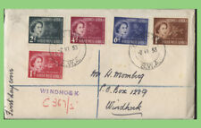 South West Africa 1953 QEII Coronation set reg. Windhoek First Day Cover
