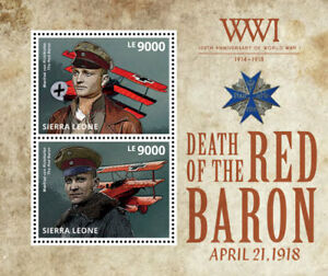 Sierra Leone - 100th Anniversary of World War I Stamp - Souvenir Sheet - MNH