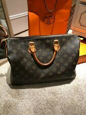 Authentic Louis Vuitton Monogram Speedy 35 Hand Bag