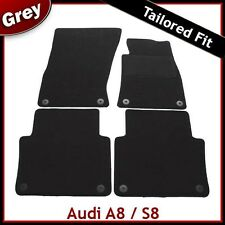 Audi A8 / S8 (2011 2012 ...) Tailored Fitted Carpet Car Mats GREY